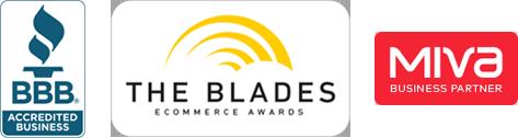 BBB, Blades, Miva logos