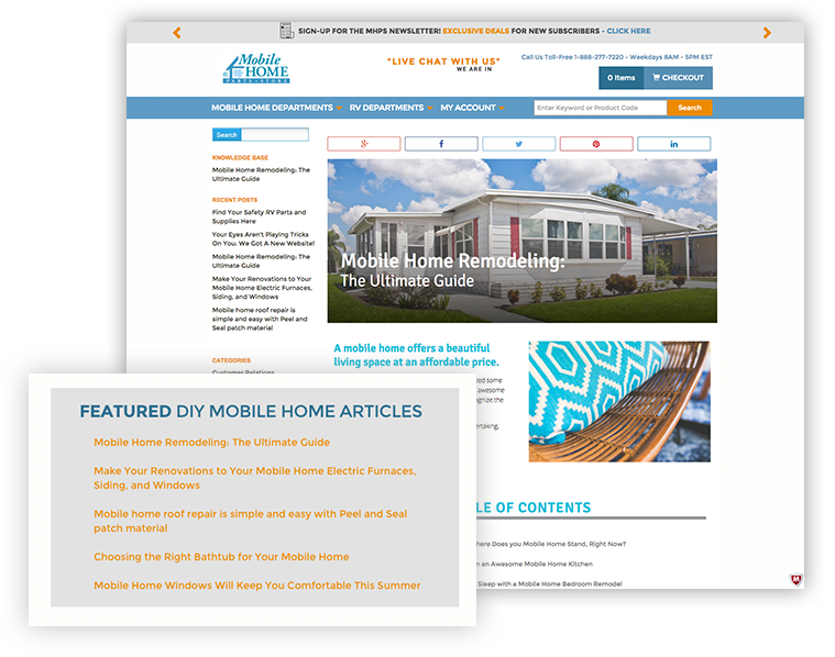 Featured DIY Mobile Home Articles