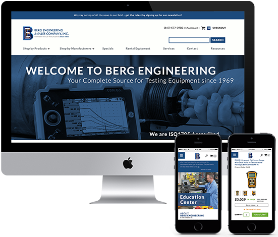 eCommerce Website Design - Berg Engineering Website Redesign