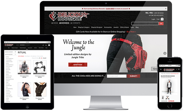 Responsive Website Design - Delicious Boutique Website Redesign