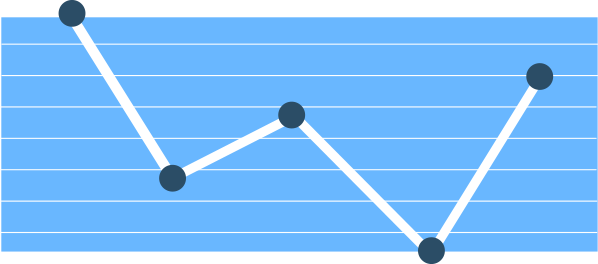 blue graph graphic icon