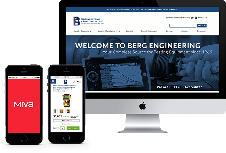 Berg Engineering tablte, desktop, and mobile mockups