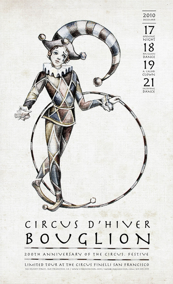 Shown Circus D'Hiver Bouglion poster. Used by permission of Anna Grosh.
