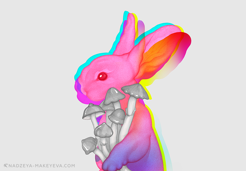 Shown: Psilocybin Rabbit. Used by permission of Nadzeya Makeyeva.