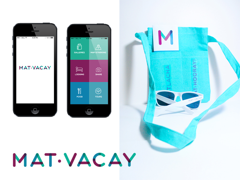 Shown: MatVacay app design.