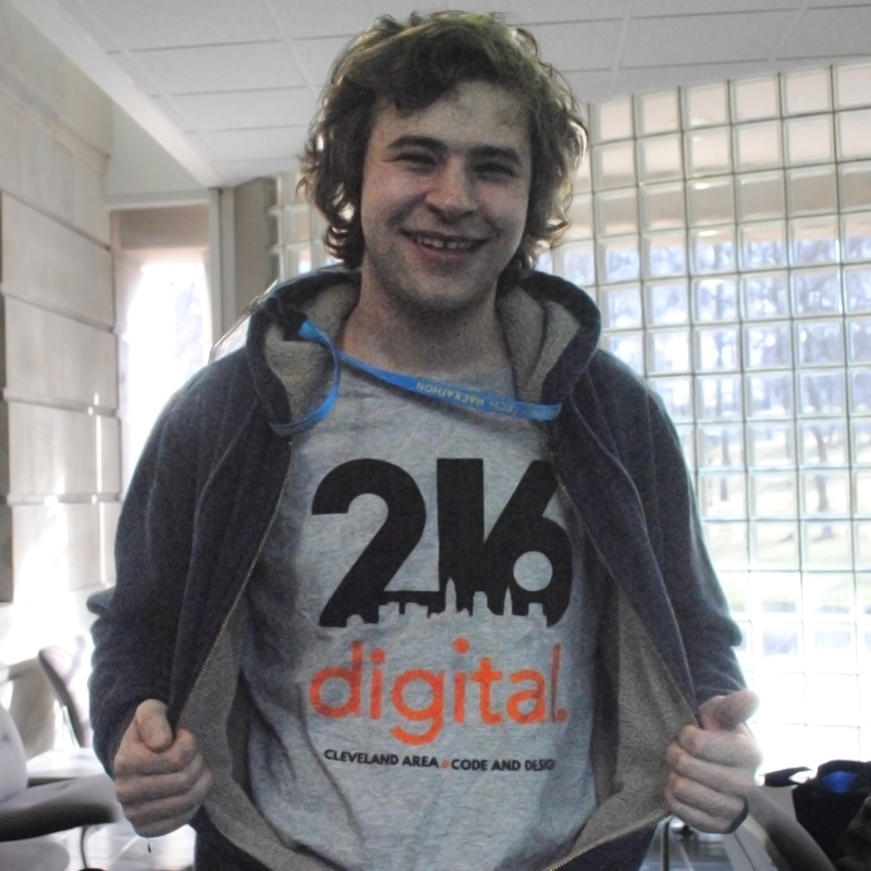 Fashion/Tech Hacker rocks our 216digital t-shirt!