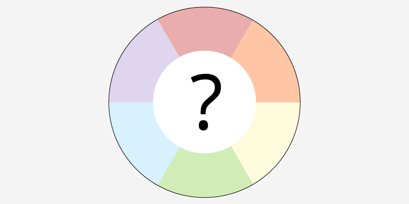 Color Wheel Showing Red, Orange, Yellow, Green, Blue And Purple.